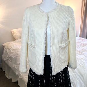 Zara Ivory Tweed Jacket